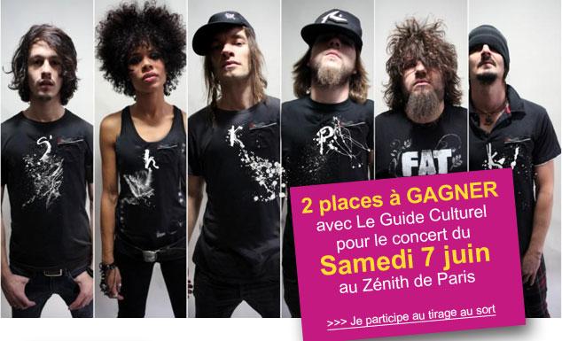 2 places à gagner Samedi 7 juin au Zénith de Paris